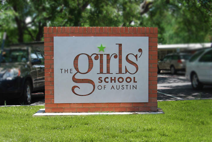 Girls's School of Austin sign