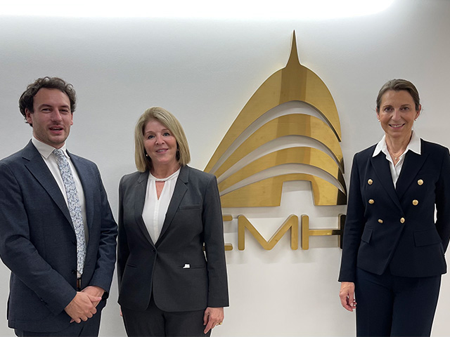 Romain Peyre, Marie-Catherine Bearden and Anne DeBard at CMH in Paris
